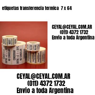 etiquetas transferencia termica  7 x 64