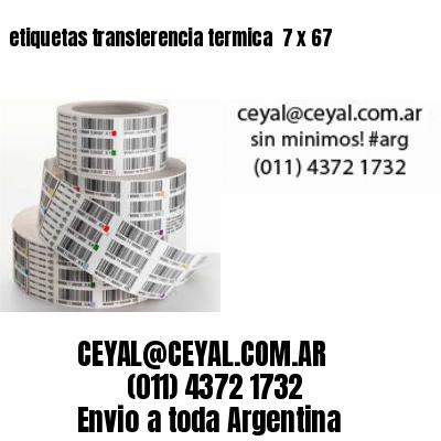 etiquetas transferencia termica  7 x 67