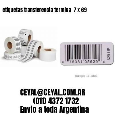 etiquetas transferencia termica  7 x 69