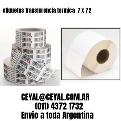 etiquetas transferencia termica  7 x 72