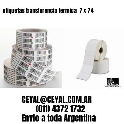 etiquetas transferencia termica  7 x 74