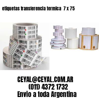 etiquetas transferencia termica  7 x 75