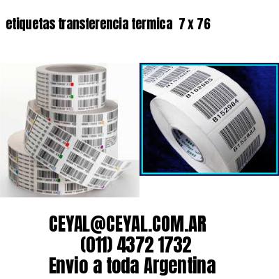 etiquetas transferencia termica  7 x 76