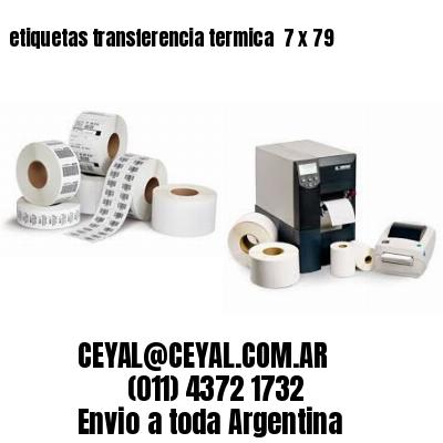 etiquetas transferencia termica  7 x 79