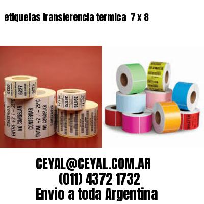 etiquetas transferencia termica  7 x 8
