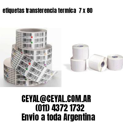 etiquetas transferencia termica  7 x 80