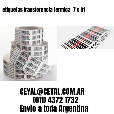 etiquetas transferencia termica  7 x 81