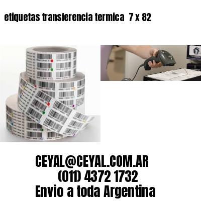 etiquetas transferencia termica  7 x 82