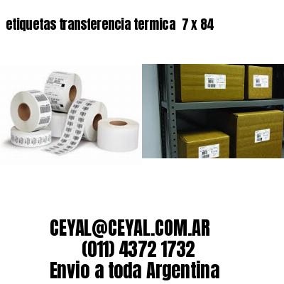etiquetas transferencia termica  7 x 84