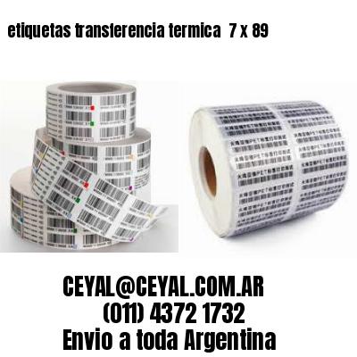 etiquetas transferencia termica  7 x 89