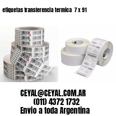 etiquetas transferencia termica  7 x 91