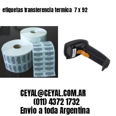 etiquetas transferencia termica  7 x 92