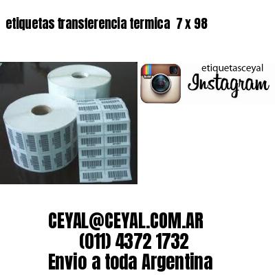 etiquetas transferencia termica  7 x 98