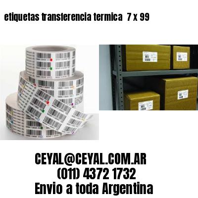 etiquetas transferencia termica  7 x 99