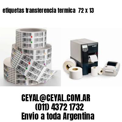 etiquetas transferencia termica  72 x 13