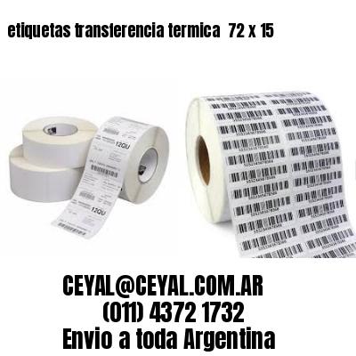 etiquetas transferencia termica  72 x 15
