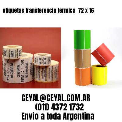 etiquetas transferencia termica  72 x 16