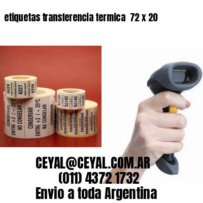etiquetas transferencia termica  72 x 20