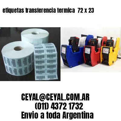 etiquetas transferencia termica  72 x 23