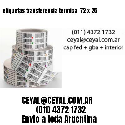 etiquetas transferencia termica  72 x 25