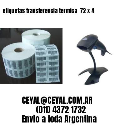 etiquetas transferencia termica  72 x 4