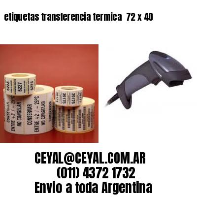 etiquetas transferencia termica  72 x 40