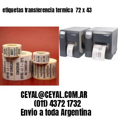 etiquetas transferencia termica  72 x 43