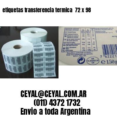 etiquetas transferencia termica  72 x 98