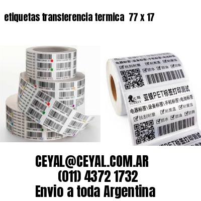 etiquetas transferencia termica  77 x 17