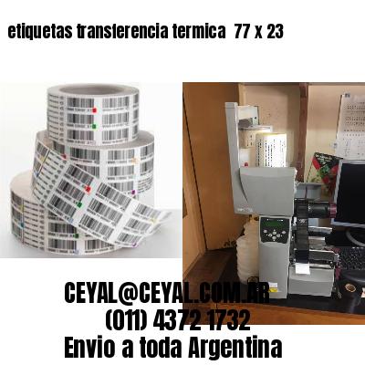 etiquetas transferencia termica  77 x 23
