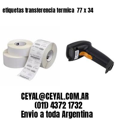 etiquetas transferencia termica  77 x 34