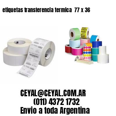 etiquetas transferencia termica  77 x 36