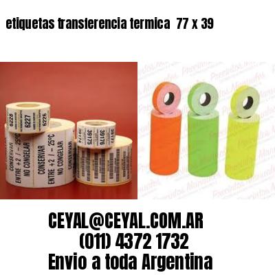 etiquetas transferencia termica  77 x 39