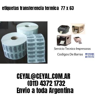 etiquetas transferencia termica  77 x 63