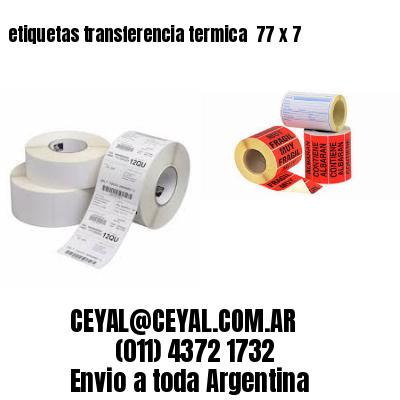 etiquetas transferencia termica  77 x 7