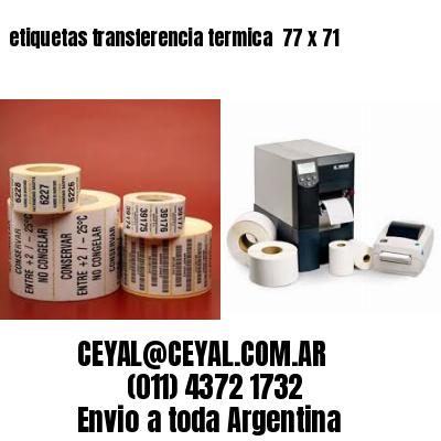 etiquetas transferencia termica  77 x 71