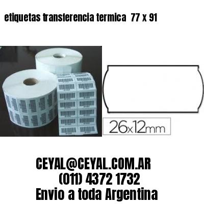 etiquetas transferencia termica  77 x 91