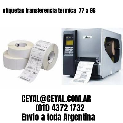 etiquetas transferencia termica  77 x 96