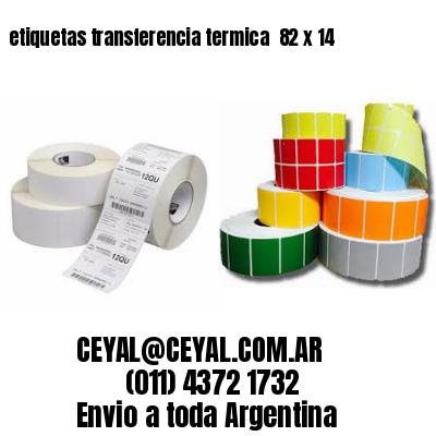 etiquetas transferencia termica  82 x 14