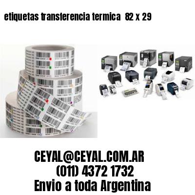 etiquetas transferencia termica  82 x 29