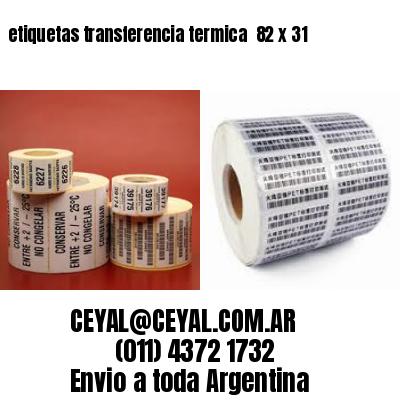 etiquetas transferencia termica  82 x 31