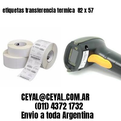 etiquetas transferencia termica  82 x 57