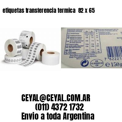etiquetas transferencia termica  82 x 65