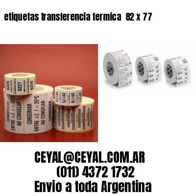 etiquetas transferencia termica  82 x 77