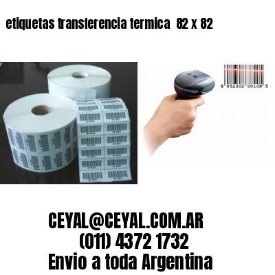 etiquetas transferencia termica  82 x 82