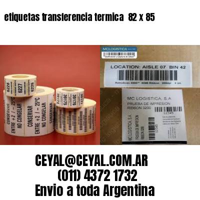 etiquetas transferencia termica  82 x 85