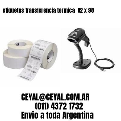 etiquetas transferencia termica  82 x 98