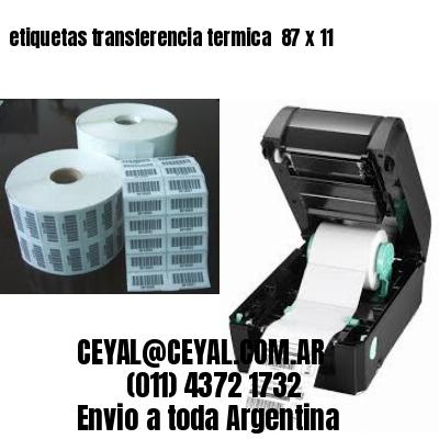 etiquetas transferencia termica  87 x 11