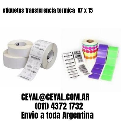 etiquetas transferencia termica  87 x 15