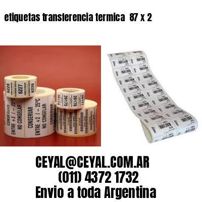 etiquetas transferencia termica  87 x 2